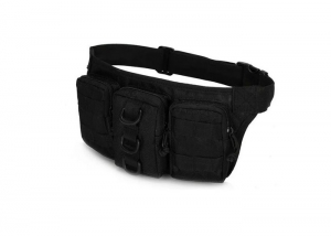 Сумка поясная Multi-function Tactical Pockets /AS-BS0040B/черный/ %