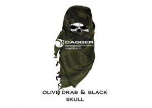 DAGGER Арафатка (шемаг) /Tactical Shemagh OD/Black Color Skulls/DI-9056